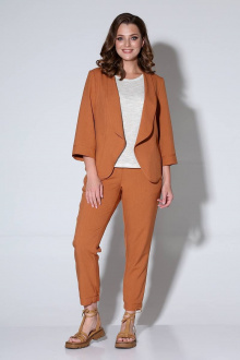 брюки,  жакет,  майка Liona Style 755 кэмел