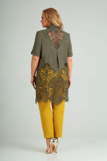 блуза,  брюки AMORI 8021 хаки-горчица