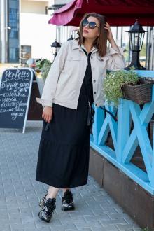 куртка,  платье Lady Secret 3681 черный+бежевый