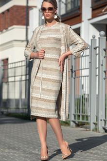 платье,  кардиган Diva 1321 бежевый