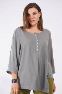блуза GRATTO 4133 серо-оливковый
