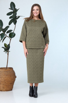 джемпер,  юбка Anastasia 679 зеленый
