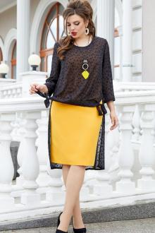 джемпер,  платье Vittoria Queen 14263/1 черный-охра