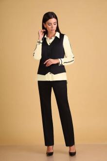 блуза,  брюки,  жилет Ксения Стиль 1920 кремовый