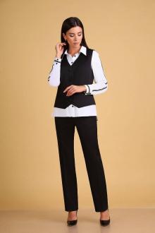 блуза,  брюки,  жилет Ксения Стиль 1920 белый