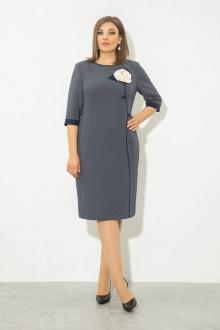 платье JeRusi 2122 серо-синий