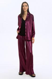 блуза,  брюки LaVeLa L40042 бордовый