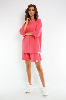 свитшот,  шорты Kivviwear 40194018 розовый