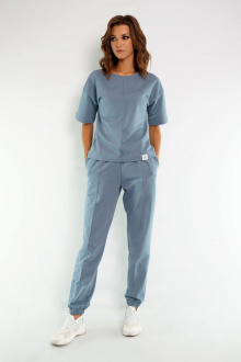 джемпер,  брюки Kivviwear 4036-4037 дымчатый-голубой