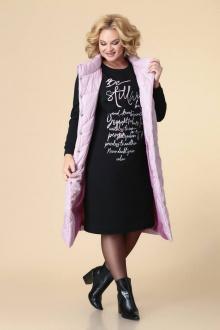 жилет,  платье Romanovich Style 3-2196 сирень/черный