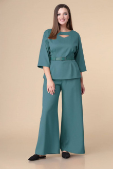 блуза,  брюки Romanovich Style 2-2200 темная_бирюза