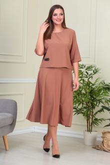блуза,  юбка Anastasiya Mak 885 коричневый