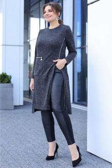 брюки,  туника Мода Юрс 2631 черно-серый
