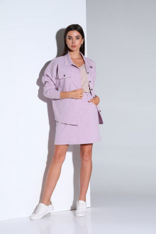 жакет,  юбка Andrea Fashion AF-159 лаванда
