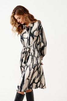 платье ELLETTO LIFE 1848 черно-бежевый