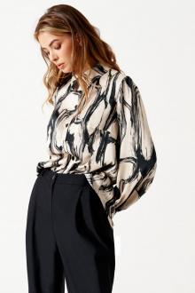 блуза ELLETTO LIFE 3515 черно-бежевый