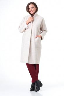 брюки,  водолазка,  пальто T&N 7085 жемчуг+бордо