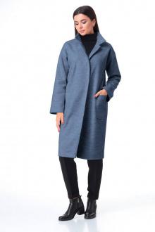 брюки,  водолазка,  пальто T&N 7085 джинс+черный