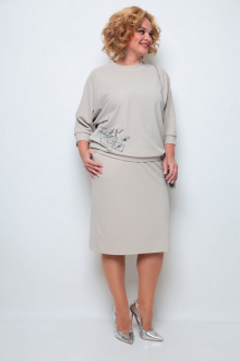джемпер,  юбка Michel chic 1254 бежевый