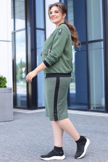жакет,  юбка Мода Юрс 2657 зеленый