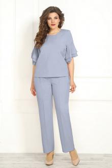 блуза,  брюки Solomeya Lux 842 голубой