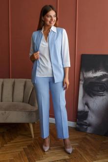 блуза,  брюки,  жилет Art Oliya 56 голубой