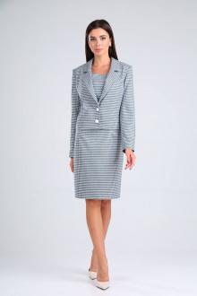 жакет,  платье TVIN 8176 сине-белый