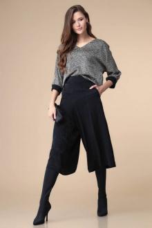 блуза,  брюки Romanovich Style 2-2124 черный/серый