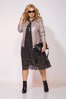 куртка,  платье Liliana 921-922L черный+перламутр