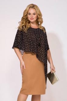 платье Liliana 988 карамель+черный