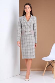 жакет,  юбка Viola Style 2668 клетка