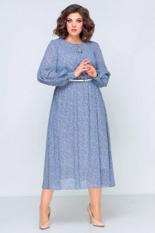 платье,  ремень Swallow 396 голубой