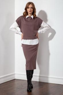 юбка S_ette S3015 коричневый