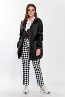 водолазка,  куртка Belinga 2196 черный/черно-белая клетка