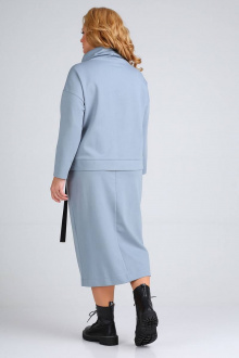 туника,  юбка Ollsy 013 серо-голубой