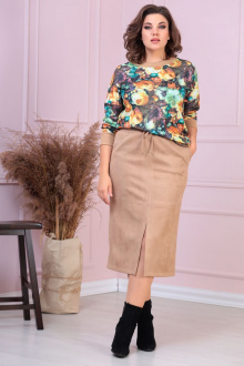 блуза,  юбка Anastasiya Mak 930 бежевый