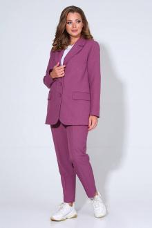 брюки,  жакет Liona Style 798 лиловый