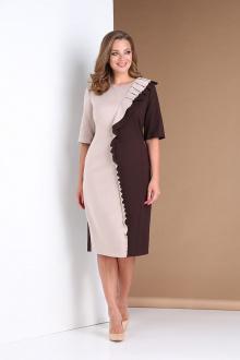 платье Andrea Style 0391 коричневый