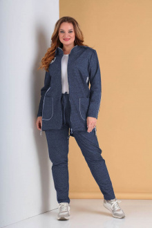 Спортивный костюм Tensi 293 серо-синий