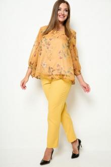 блуза,  брюки Michel chic 1259 горчичный