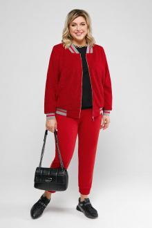бомбер,  брюки Pretty 2061 красный