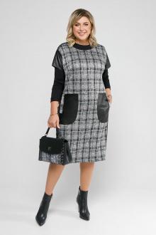 джемпер,  платье Pretty 2058 черный-изумруд