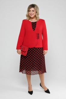жакет,  платье Pretty 2032 красный
