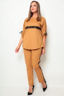 блуза,  брюки Michel chic 1258 горчичный