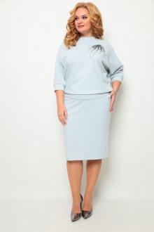 джемпер,  юбка Michel chic 1254 серо-голубой