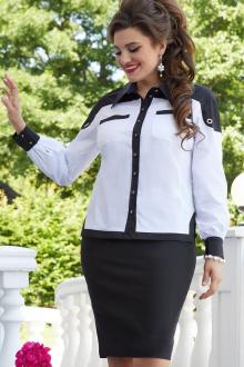 блуза,  юбка Vittoria Queen 14683 черно-белый