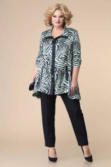 блуза,  брюки Romanovich Style 2-2211 бирюза/черный