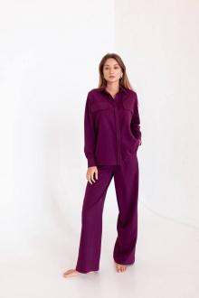 брюки,  рубашка KRASA 239-21 марсала