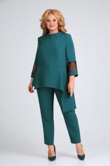 блуза,  брюки ELGA 12-717 изумруд