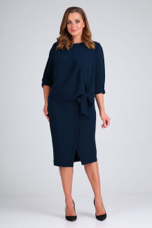 блуза,  юбка ELGA 22-716 синий
